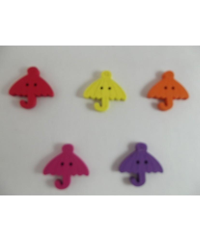 Lot 2171 - 10 boutons bois parapluie