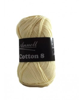 Annell - Cotton 8 - Coloris 14-  Beurre